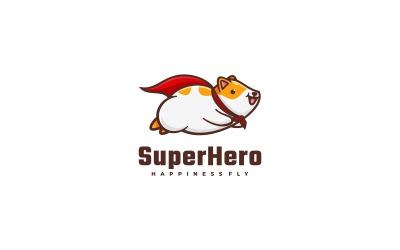 Super Hero Mascot Cartoon Logo