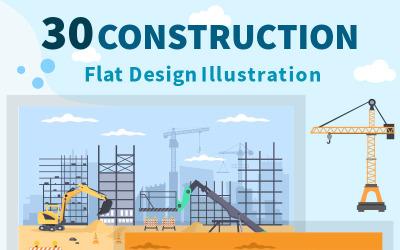 30 Construction de l'illustration vectorielle de l'immobilier