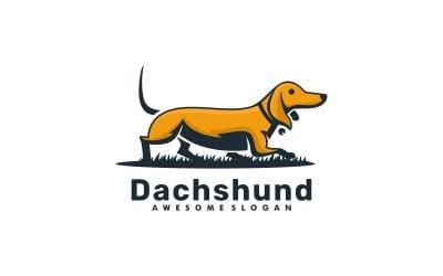 Dachshund Simple Mascot Logo