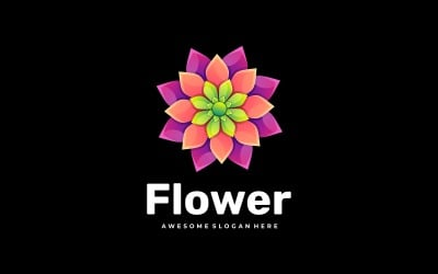 Flower Gradient Colorful Logo Style