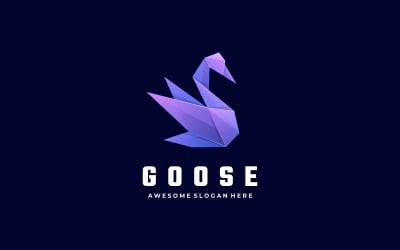 Goose Low Poly Logo Style