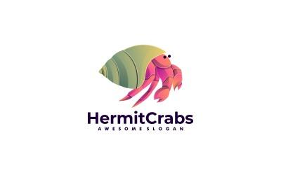Hermit Crab Gradient Colorful Logo