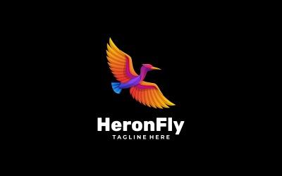 Heron Fly Gradient Logo Style