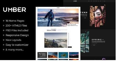 琥珀 |摄影PSD模板