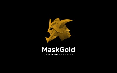 Mask Gold Gradient Logo Style