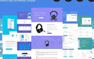 SaaSLab - PSD-mall för programvara, SaaS och WebApp