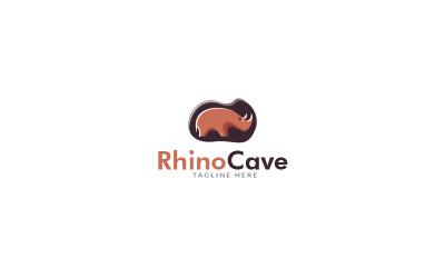 Rhino Cave Logo Design Template