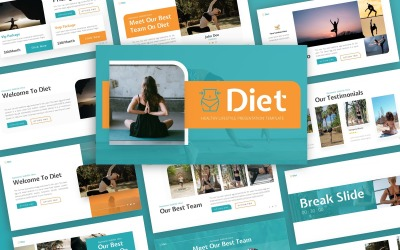 Diet - Healthy Lifestyle Multipurpose PowerPoint Template