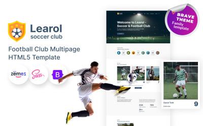 Learol - Football Club HTML5 Website Template