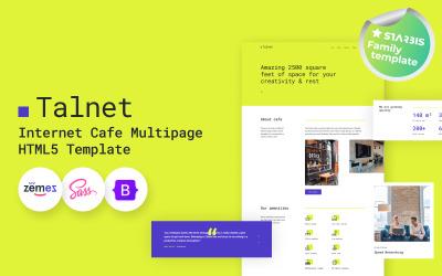 Talnet - Internet Cafe HTML5 Website Template