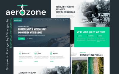 Aerozone - Drone Fotografia Aérea e Videografia Elementor Pro Template Kits