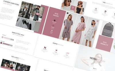 Metro Hanzo Fashion Googleslides Template