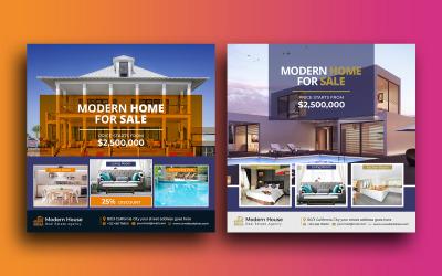 Modern Real Estate Social Media Post Instagram Post Template
