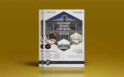 Real Estate Flyer Poster Design Template