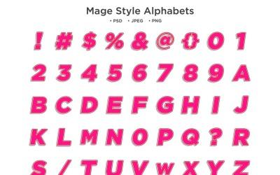 Mágus stílusú ábécé, Abc tipográfia