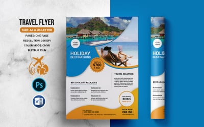 Printable Travel Flyer Corporate Identity Template