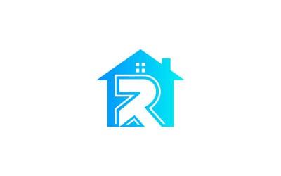 R Letter Home Logo Design