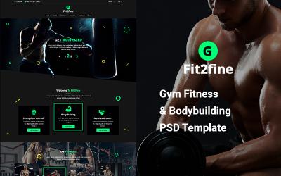 Gym Fitness Bodybuilding PSD -mall