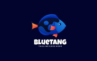 Logotipo colorido do gradiente Blue Tangs