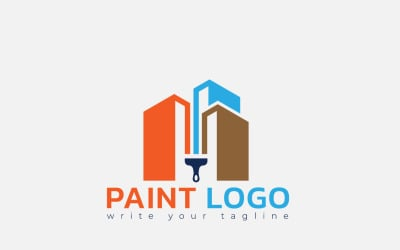 Logo Design, Concept For House Painting, Home Decoration, Painting Service