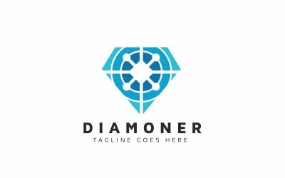 Diamond Tech Modern Logo Template