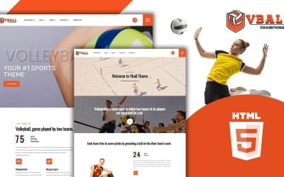 Modèle de site Web Vball - Volleyball Sports HTML5