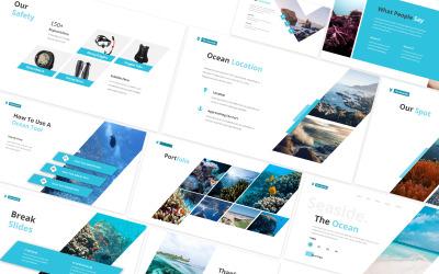 Óceánvédelmi Powerpoint sablon