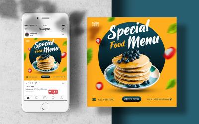 Special Food Menu Instagram Post Banner Template Social Media