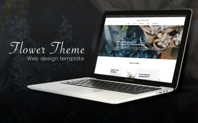 Flower Theme Brand Sales Page PSD Website Template