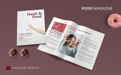 Saúde e alimentação - modelo de revista
