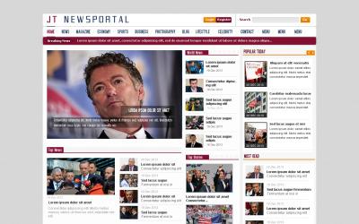 Plantilla PSD gratuita del portal de noticias de JT