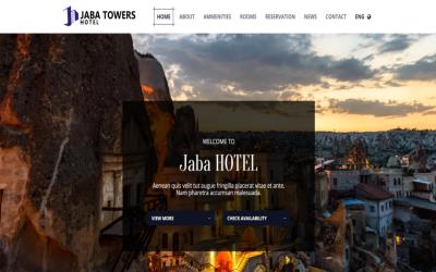 Jaba Hotel Bed & Breakfast-多用途高级HTML5网站模板