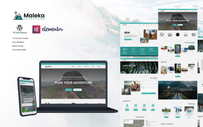 Maleka - Agence de voyages d'aventure Wordpress Elementor Template Kit