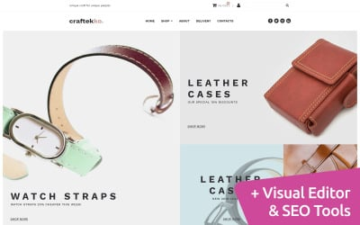 Arts and Crafts Moto CMS Website Template