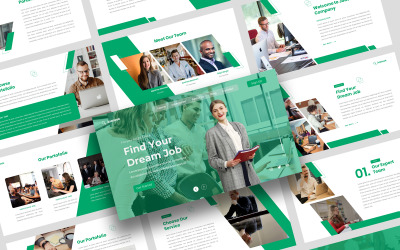 Jobseek - Modèle de Keynote pour les postes vacants et les demandeurs d'emploi