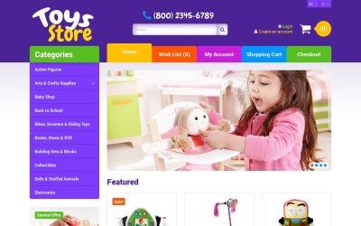 Безкоштовний адаптивний шаблон OpenCart у магазині іграшок