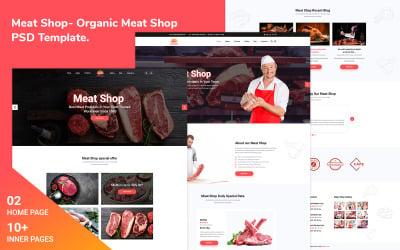 Köttbutik-Ekologisk köttbutik Psd-mall