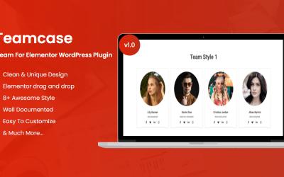 Teamcase Team voor Elementor WordPress-plug-in