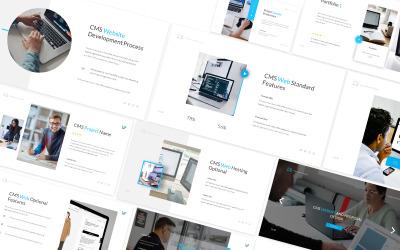 CMS -webbplats och förslag PowerPoint -mall
