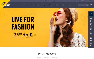 Fashline - modelo da Web de Photoshop gratuito para comércio eletrônico
