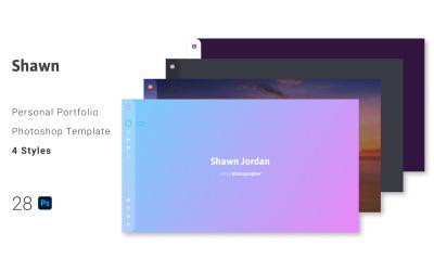 Shawn - Persoonlijk portfolio PSD-sjabloon