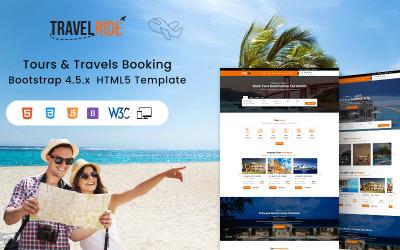TravelRide - Modèle de site Web HTML de réservation de circuits et de voyages
