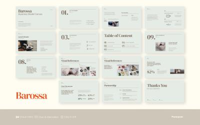 Баросса - Бизнес-презентация - Шаблон PowerPoint