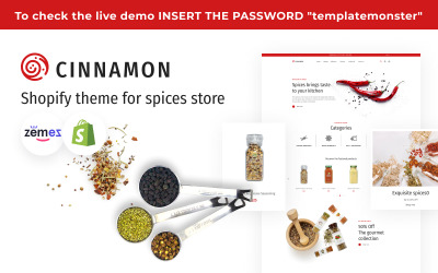 Cannella - Tema Shopify per spezie ed erbe aromatiche