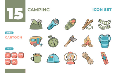 Kamp Simge Seti (Karikatür Tarzı)