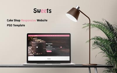 Cake Shop Responsive Website PSD Sablon
