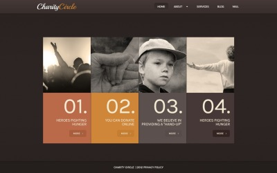 Free WordPress Promotion Theme for Online Child Charity
