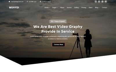 Muydi - Modello di sito web di videografia