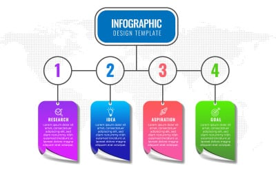 Infographic Design Template With 4 Options Or Steps