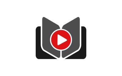 Šablona knihy video vzdělávání knihy